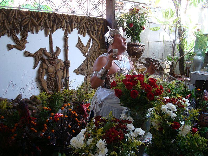 Ficheiro:Ogum no ritual do sacrificio. Orossi..JPG