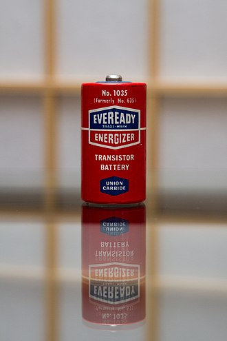 Eveready Battery Company - Image: Old Battery