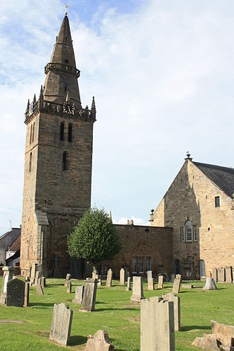 Cupar - The imposing Old Church, Cupar, Fife