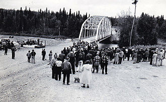 Soldotna, Alaska - First Kenai River Bridge in Soldotna