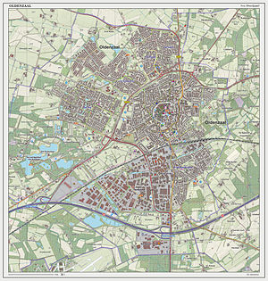 Oldenzaal - Dutch Topographic map of Oldenzaal (town), as of June 2014
