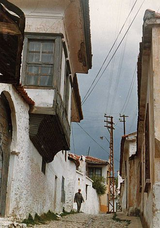 Muğla - Street in the old quarters of Muğla.