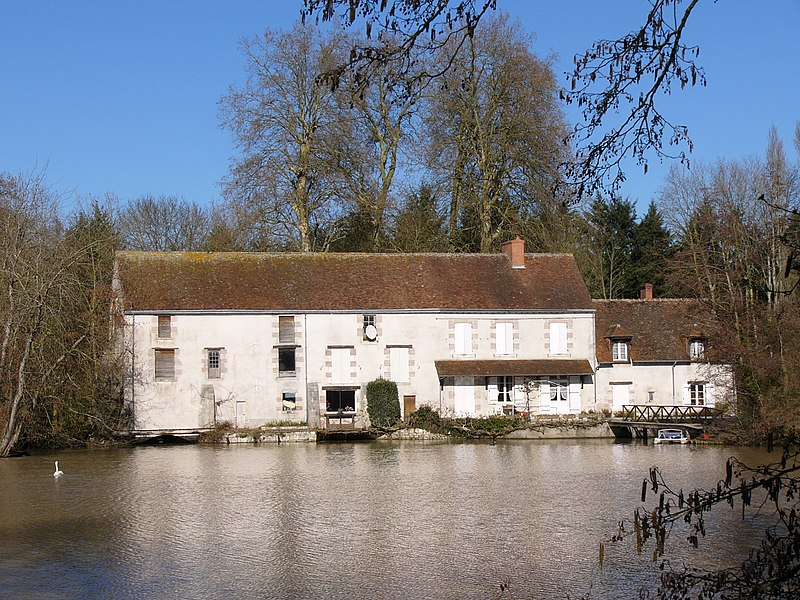 Moulin de Saint-Julien sur le Loiret, Olivet, Loiret, France