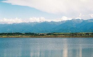 Olt River - The Avrig reservoir on the Olt