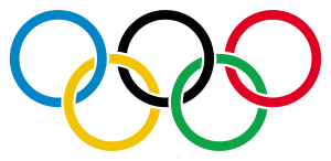 Olympic rings with transparent rims.svg