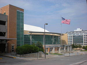 Omaha Civic Auditorium - The Civic Auditorium along Capital Avenue.