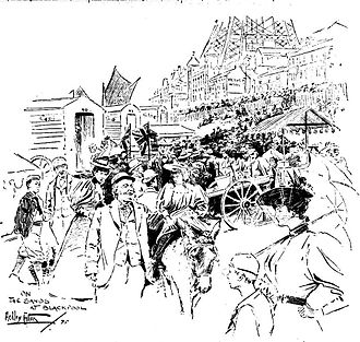 Wakes week - Blackpool Sands August 1895