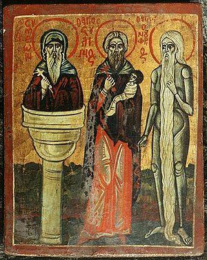 Stylianos of Paphlagonia - Simeon Stylites, Stylianos and Onuphrius