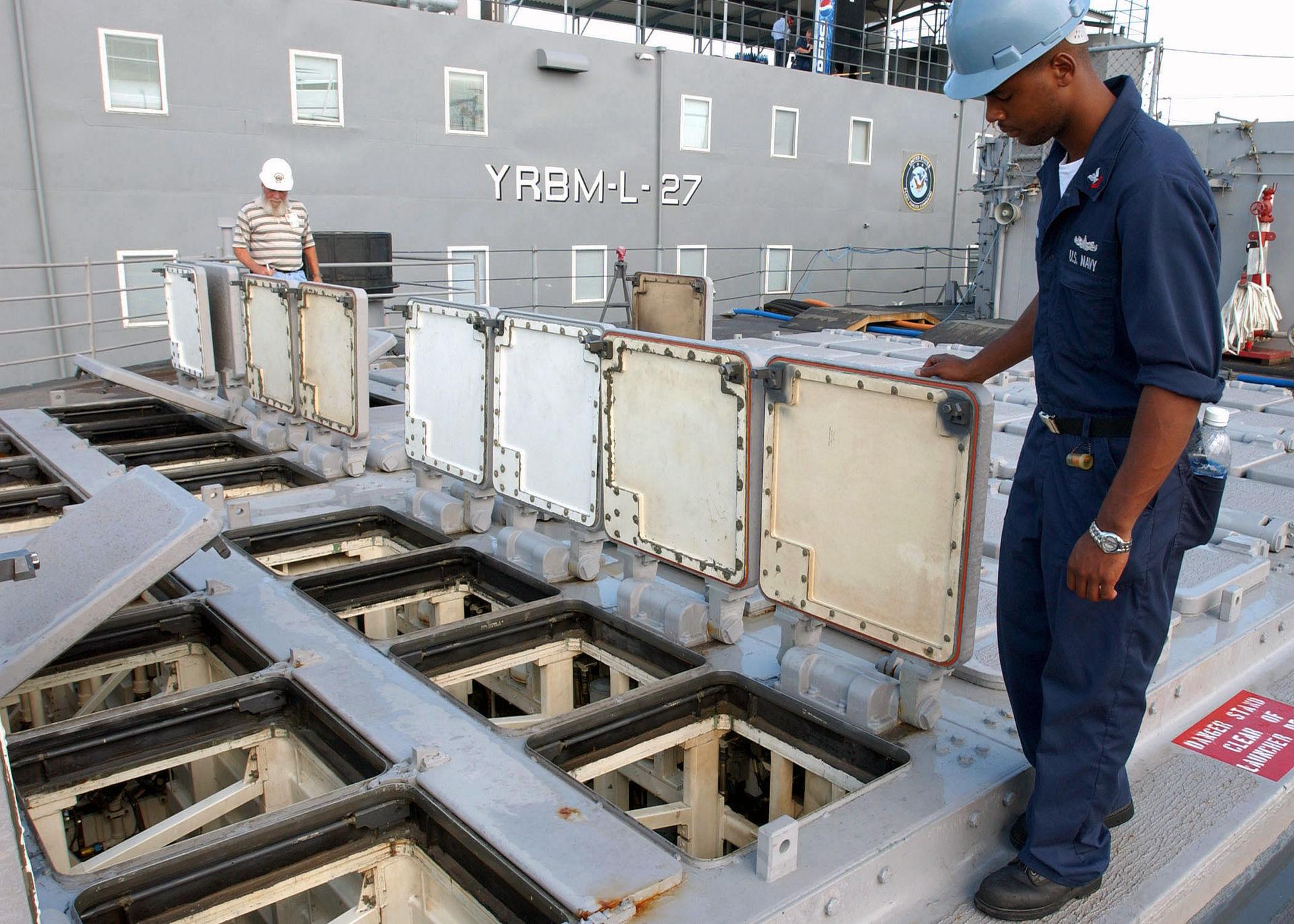 Open VLS hatches on USS Hue City (CG-66).jpg