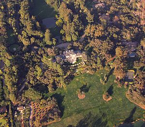 Oprah's Montecito estate, from the window of a...
