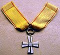 Order of the Cross of Liberty, 1st class with a star, 2001, Prime Minister Kalevi Sorsa - National Museum of Finland - DDSC04157.JPG