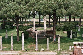 Ostia Antica - Market square of Ostia Antica
