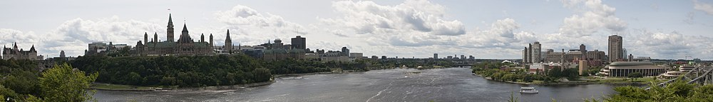 Ottawa and Gatineau, Canada banner-City skyline and Ottawa River.jpg