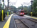 Outbound train at Chestnut Hill station.JPG