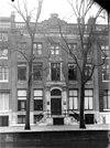 overzicht voorgevel met ingangspartij - amsterdam - 20017440 - rce