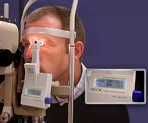 Monitoring (medicine) - The PASCAL Dynamic Contour Tonometer. A monitor for detection of increased intraocular pressure.