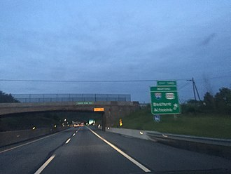 Pennsylvania Turnpike - Eastbound at the I-99/US 220 exit in Bedford