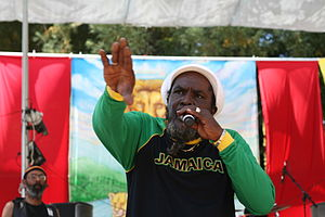 Performing at Reggae on the River in 2010