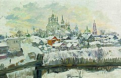 Painting of Murom city by Ivan Semenovich Kulikov (1914).jpg