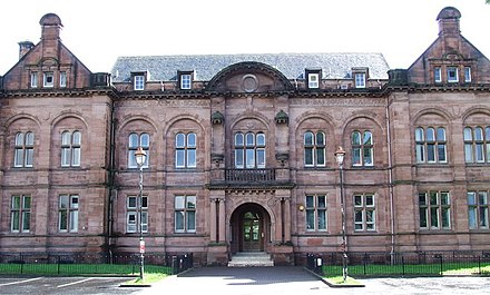 Paisley Grammar School, now a state comprehensive Paisley Grammar School - geograph.org.uk - 427193.jpg