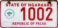 Palau license plate Ngaraard 20XX b.png
