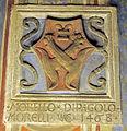 Palazzo comunale di s. miniato, sala delle sette virtù, stemma morelli 1468.JPG