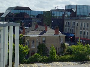 Pankhurst Centre - The Pankhurst Centre as seen from the Manchester Royal Infirmary car park