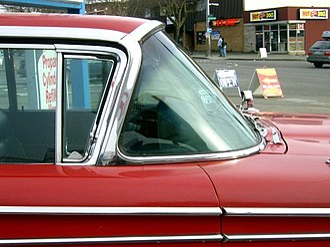 Windshield - Panoramic (wrap-around) windshield on a 1959 Edsel Corsair