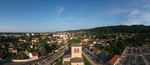 Panoramique à Miribel (Ain) autour de l'église Saint-Martin.PNG
