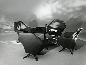 Ignazio Gardella - Office furniture, Tecno. Photo by Paolo Monti, 1963.
