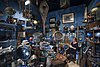 Paris - Vintage travel gear seller at the marche Dauphine - 5212.jpg