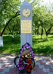 Parkhomenkove Vol-Volynskyi Volynska-Monument in honour the warriors of border guards-details.jpg