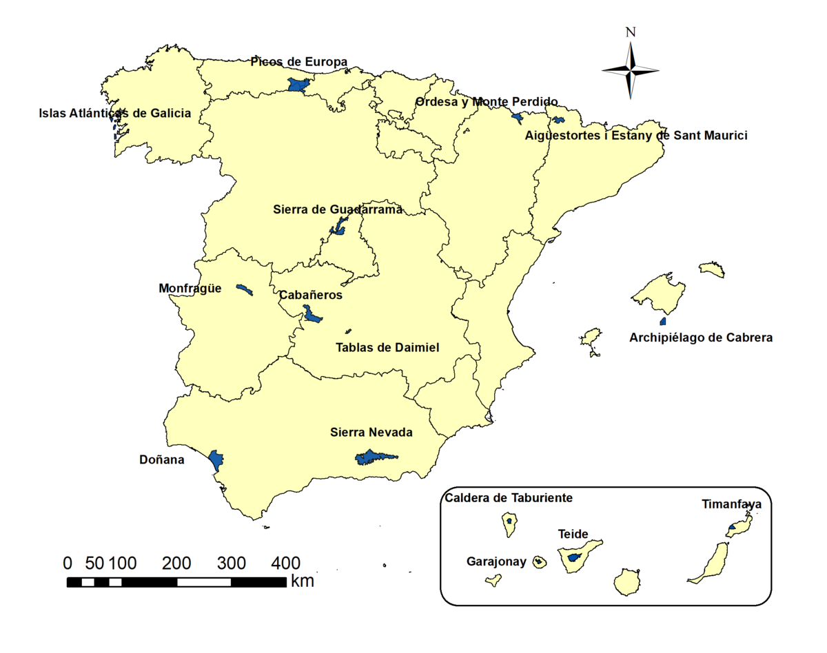 Tenerife Cartina Spagna.Parchi Nazionali Della Spagna Wikipedia