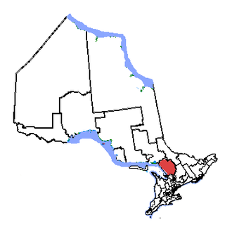 Parry Sound—Muskoka - Parry Sound—Muskoka in relation to other Ontario electoral districts