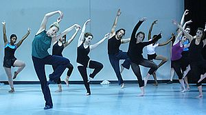 Parsons Dance Company - Dancer Abby Silva leads a master class at the Parsons Dance Company in May 2006.
