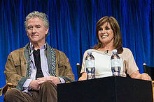 Gray and Patrick Duffy at the PaleyFest 2013 forum for Dallas
