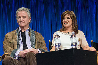Linda Gray - Gray and Patrick Duffy at the PaleyFest 2013 forum for Dallas