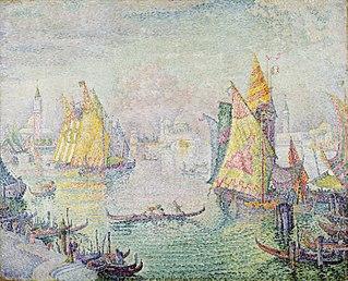 <i>The Lagoon of Saint Mark, Venice</i> painting by Paul Signac
