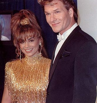 Patrick Swayze - Swayze and Paula Abdul at the 1990 Grammy Awards