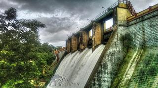 Peechi Dam dam in Peechi, Thrissur, Kerala, India