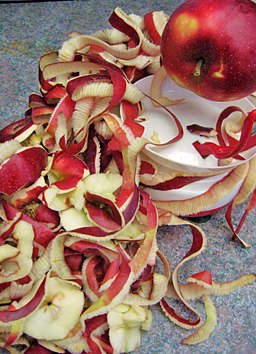 Peeling apples for applesauce
