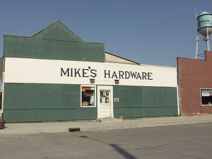 Pembina, North Dakota - A hardware store in Pembina, North Dakota.