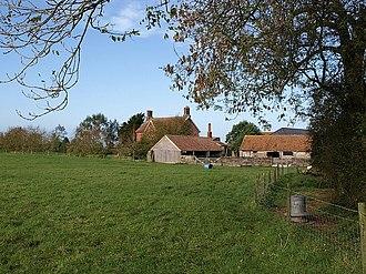 East Pennard - Image: Pennard Hill Farm geograph.org.uk 1029033