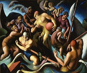 Regionalism (art) - Thomas Hart Benton, People of Chilmark (Figure Composition), 1920, Hirshhorn Museum and Sculpture Garden, Washington, DC