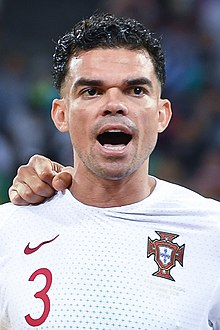 6061f1bfc36 Pepe lining up for Portugal at the 2018 FIFA World Cup