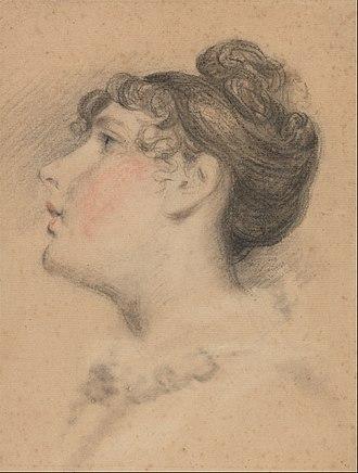 Peter De Wint - Head of a Girl: Probably a Study of Mrs. Peter De Wint