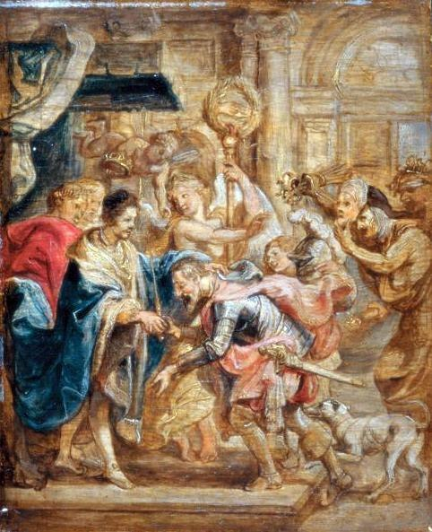 Peter Paul Rubens - The Reconciliation of King Henry III and Henry of Navarre