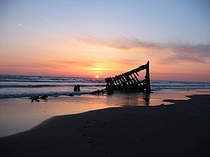 Wreck of the Peter Iredale in Oregon, USA