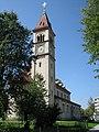 Pfarrkirche Itzling Turm.JPG