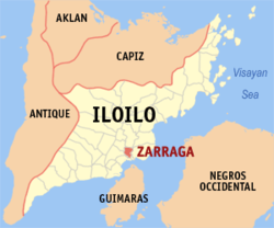 Map of Iloilo with Zarraga highlighted